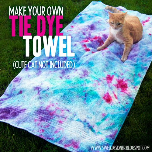 Tie Dyed Beach Towel