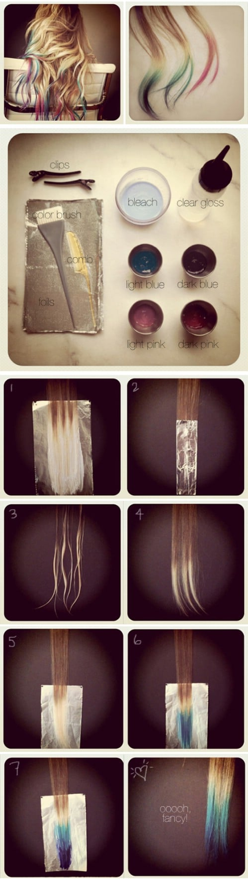 Tie Dye Hair Extensions
