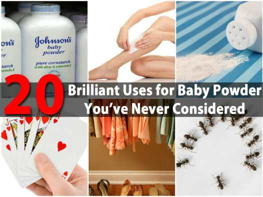 20 Brilliant Uses For Baby Powder You Ve Never Considered Diy Crafts