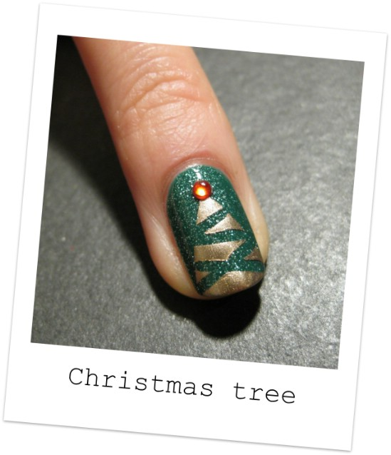 Abstract Tree 20 Fantastic Diy Christmas Nail Art Designs That Are Borderline Genius