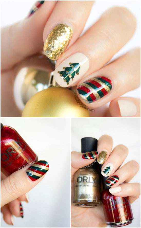 Mix N Match 20 Fantastic Diy Christmas Nail Art Designs That Are Borderline Genius