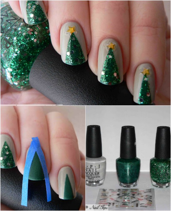 Realistic Tree 20 Fantastic Diy Christmas Nail Art Designs That Are Borderline Genius