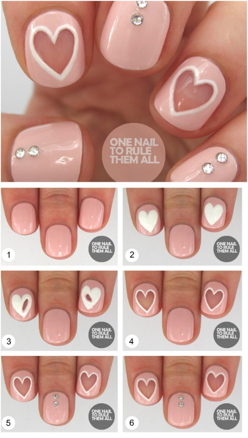 Negative E Hearts 20 Ridiculously Cute Valentine S Day Nail Art Designs