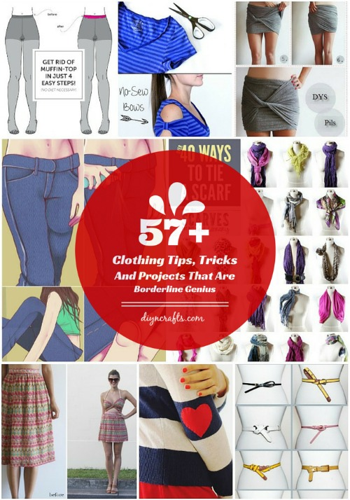 57 Clothing Tips, Tricks And Projects That Are Borderline Genius...