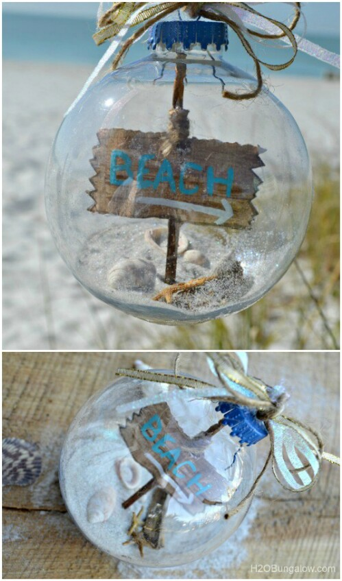 Beachy Christmas Ornaments