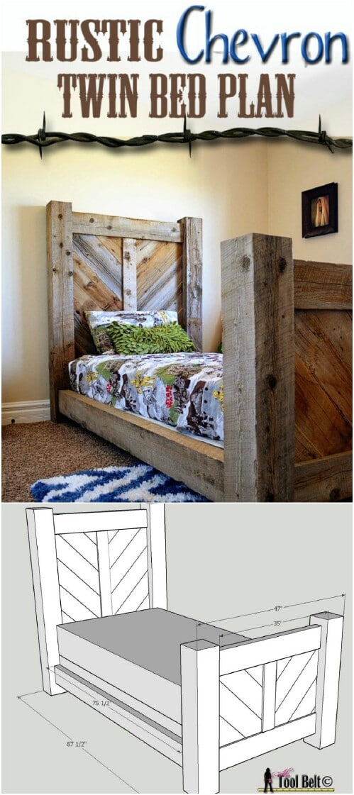 Twin Bed (with Complete Plans!)