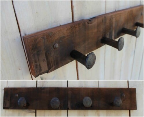 Simple Rustic Coat Rack
