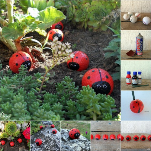 Turn Old Golf Balls into the Cutest Ladybugs You've Ever Seen