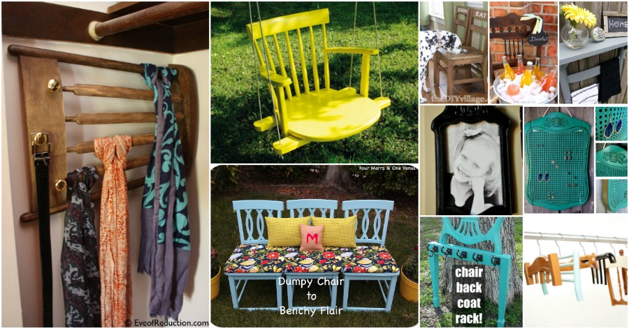 20 Brilliantly Creative Ways To Repurpose Old Chairs DIY Amp Crafts