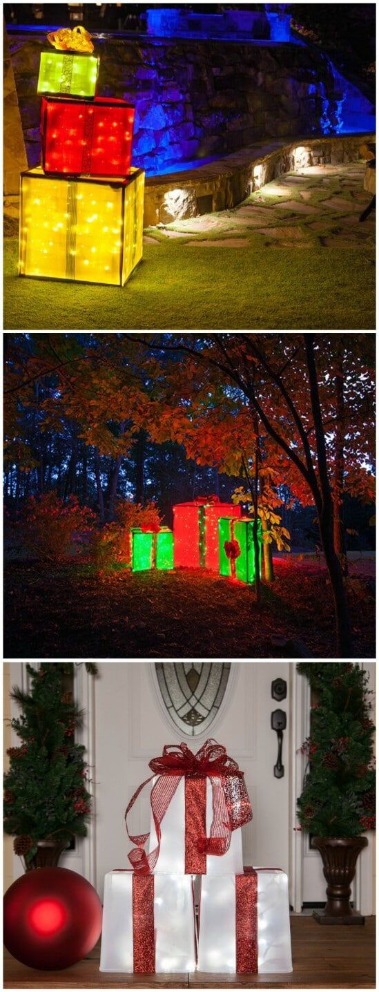 20 Impossibly Creative DIY Outdoor Christmas Decorations ... on Patio Decorating Ideas With Lights  id=95384