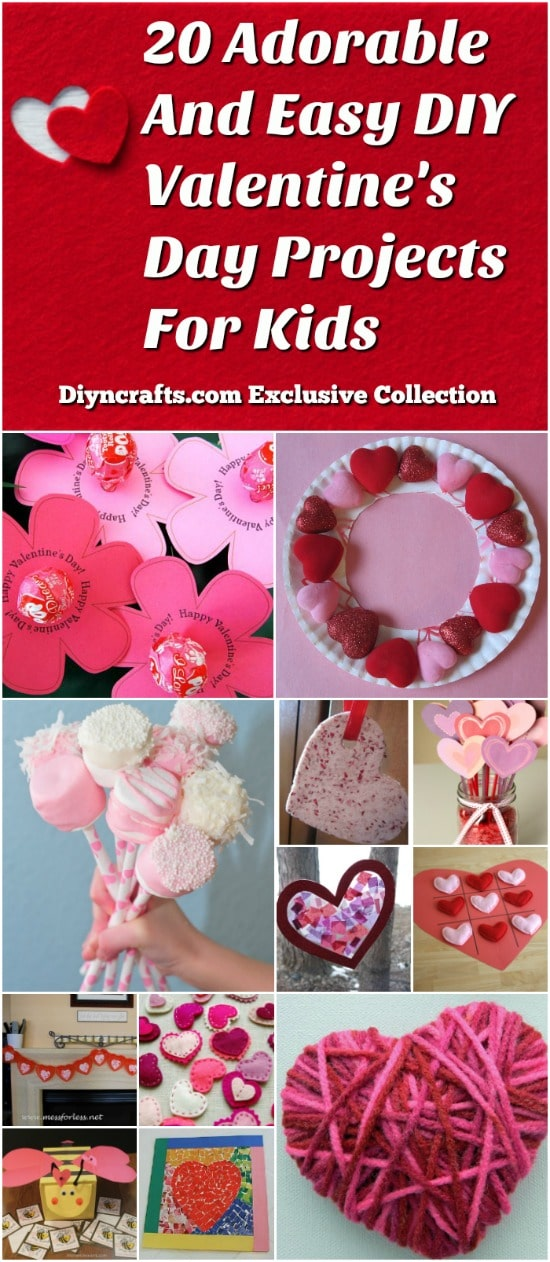 20 Adorable And Easy DIY Valentines Day Projects For Kids