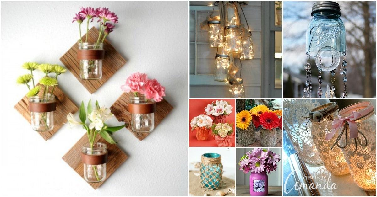 50 Brilliantly Decorative Mason Jar Home Decorating