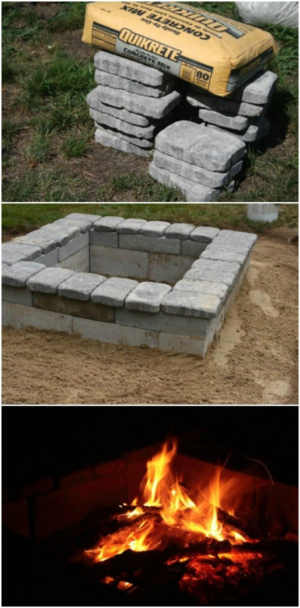 30 Brilliantly Easy DIY Fire Pits To Enhance Your Outdoors ... on Cinder Block Fireplace Diy  id=64468