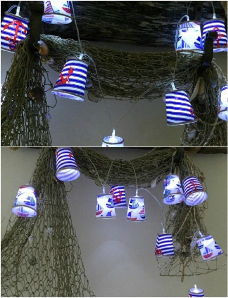 Repurposed Shot Glass Nautical Lights