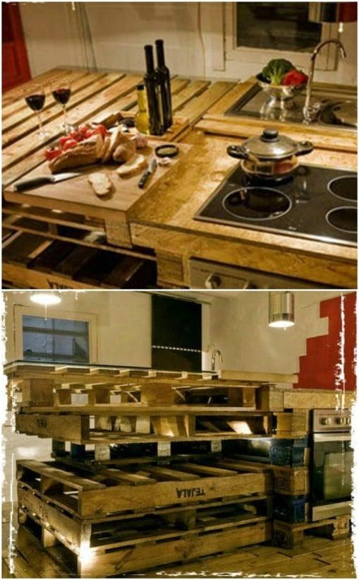 10 Brilliantly Rustic DIY Pallet Kitchen Furniture Ideas ... on Rustic:fkvt0Ptafus= Farmhouse Kitchen Ideas  id=84698