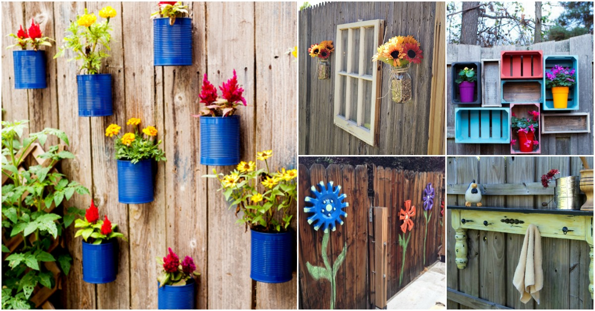 30 Eye-Popping Fence Decorating Ideas That Will Instantly ... on Backyard Wall Decor Ideas  id=56721
