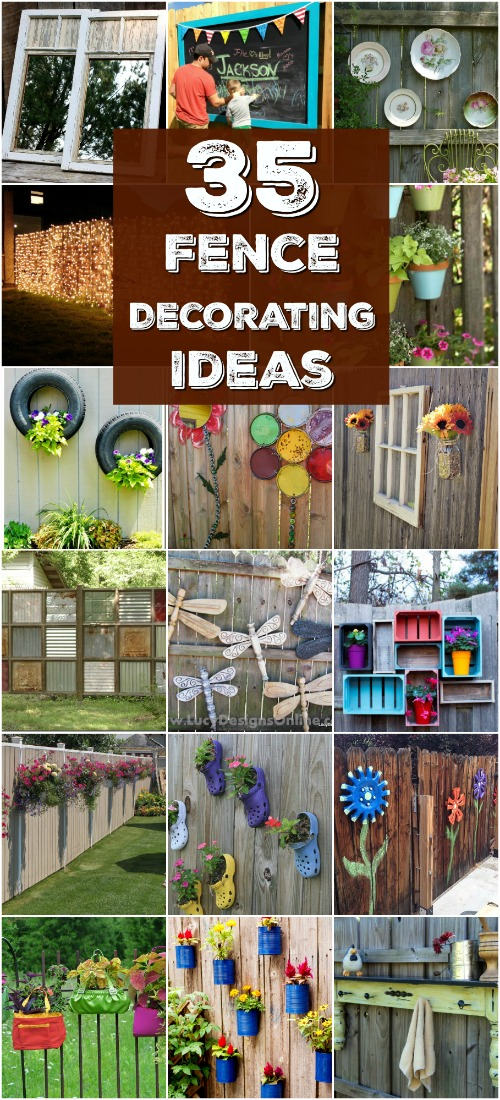 30 Eye-Popping Fence Decorating Ideas That Will Instantly ... on Backyard Wooden Fence Decorating Ideas id=32484