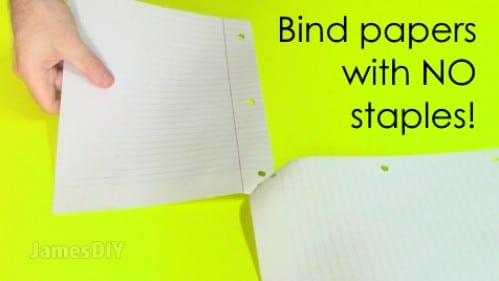 Attach your papers together without a stapler.
