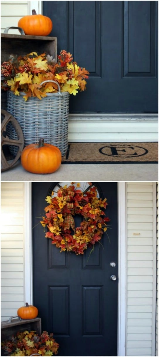 Welcome Fall: 16 Amazing DIY Fall Porch Decorating Ideas