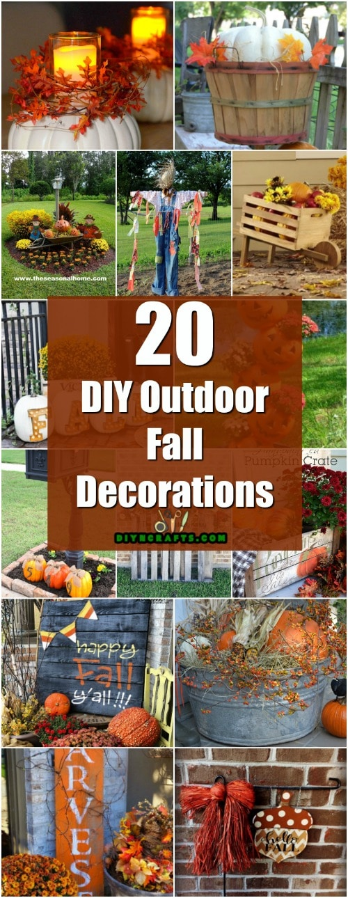 20 DIY Outdoor Fall Decorations That'll Beautify Your Lawn ... on Easy Diy Garden Decor id=47995