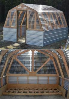 20 Free DIY Greenhouse Plans You ll Want To Make Right Away   DIY     DIY Barn Style Greenhouse