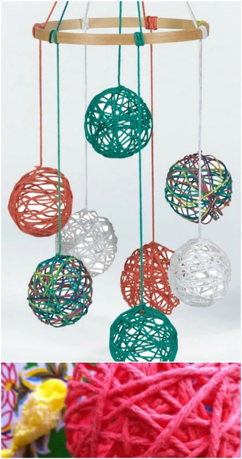 Colorful Yarn Ball Mobile