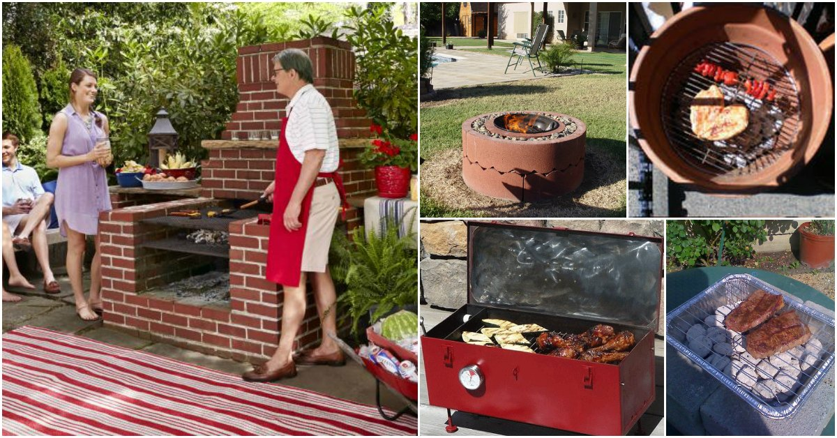 10 Awesome DIY Barbecue Grills To Fill Your Backyard With ... on Diy Bbq Patio id=42069