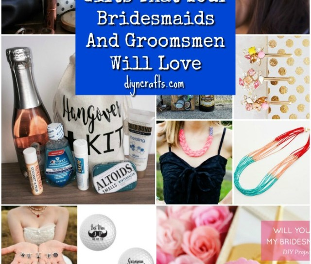 Unique Diy Wedding Party Gifts That Your Bridesmaids And Groomsmen Will Love