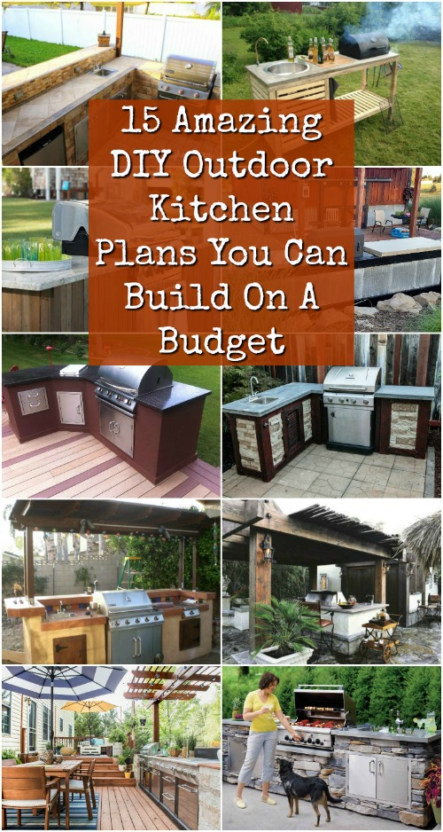 15 Amazing DIY Outdoor Kitchen Plans You Can Build On A ... on Patio Kitchen Diy  id=52336