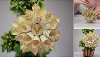 How To Make Paper Flowers From Old Book Pages Diy Crafts