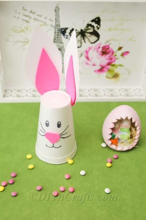Easy DIY Easter Bunny From Styrofoam Cup