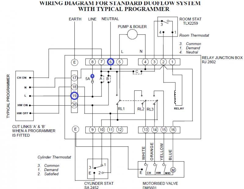 Hive to old satchwell relay box question | DIYnot Forums