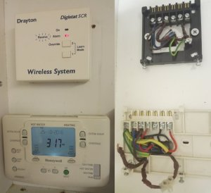 Loose wire behind Honeywell ST9400C | DIYnot Forums