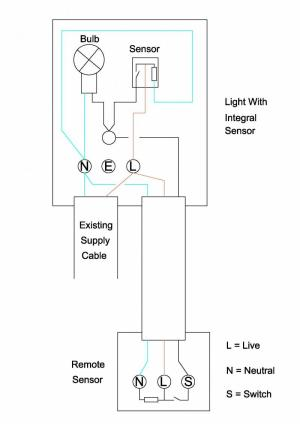 Wiring extra sensor into security light | DIYnot Forums