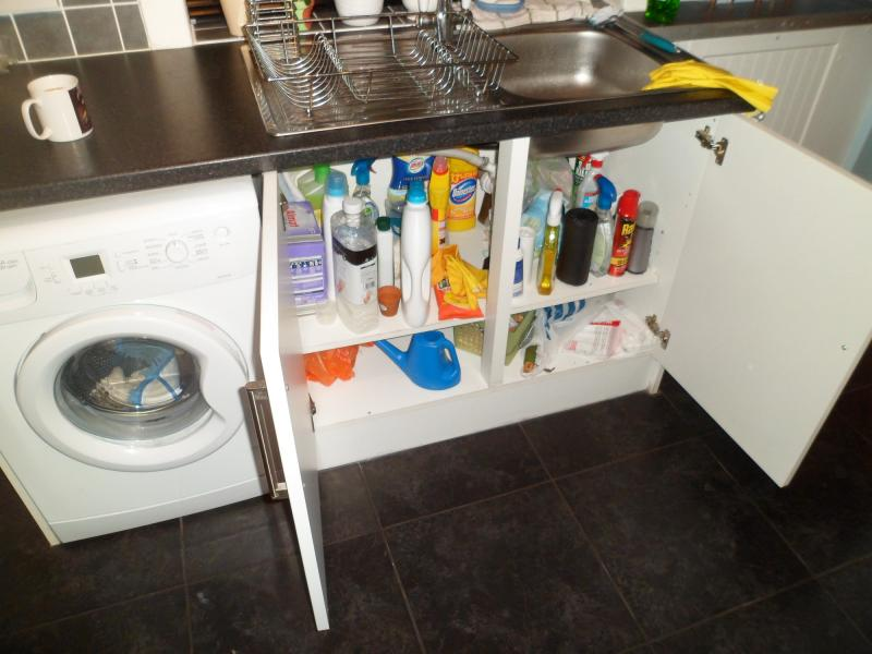 installing a dishwasher in a kitchen