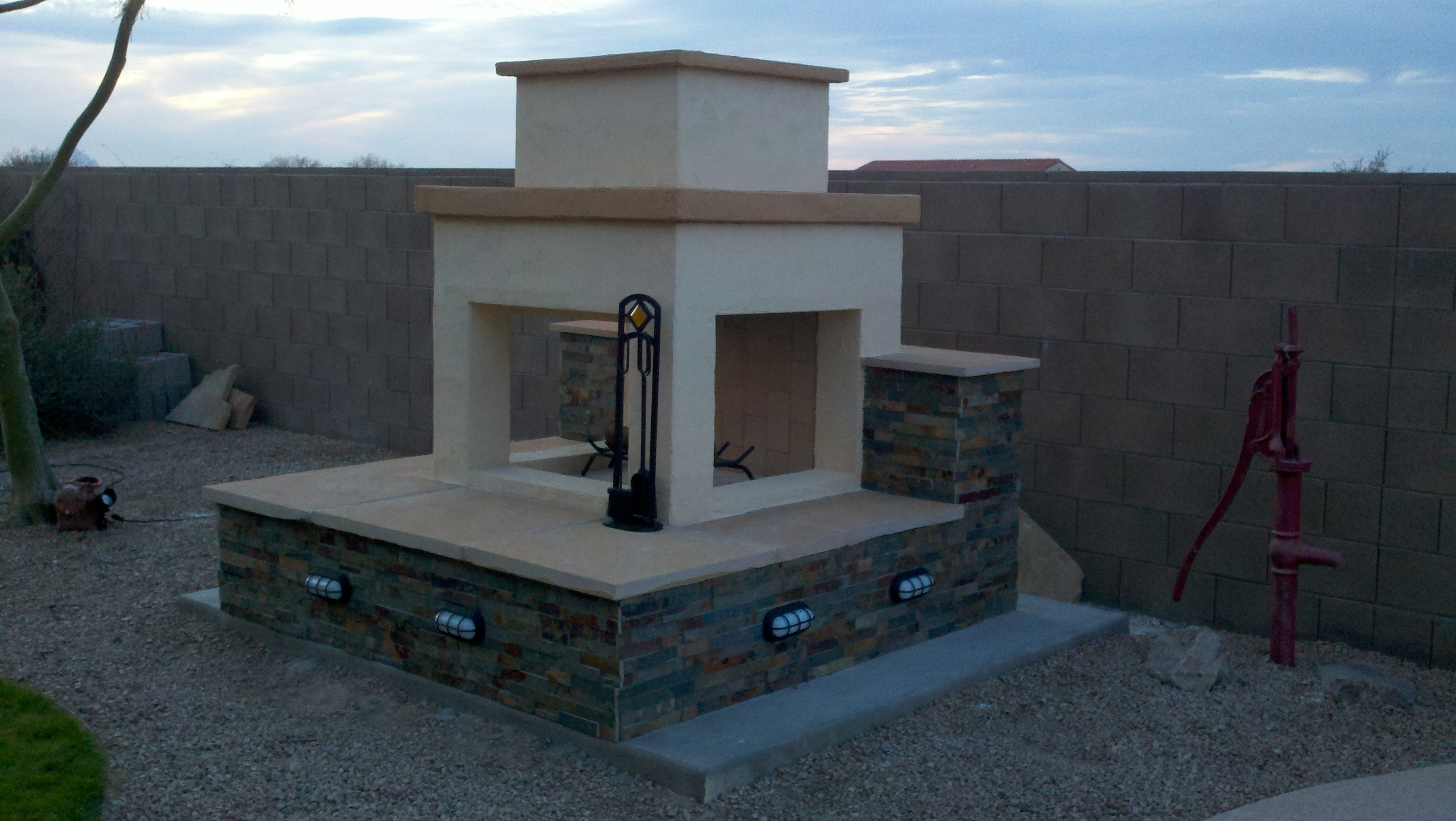 3 Great Ways to Finish Your Outdoor Fireplace | Your DIY ... on Building Outdoor Fireplace With Cinder Block id=90446