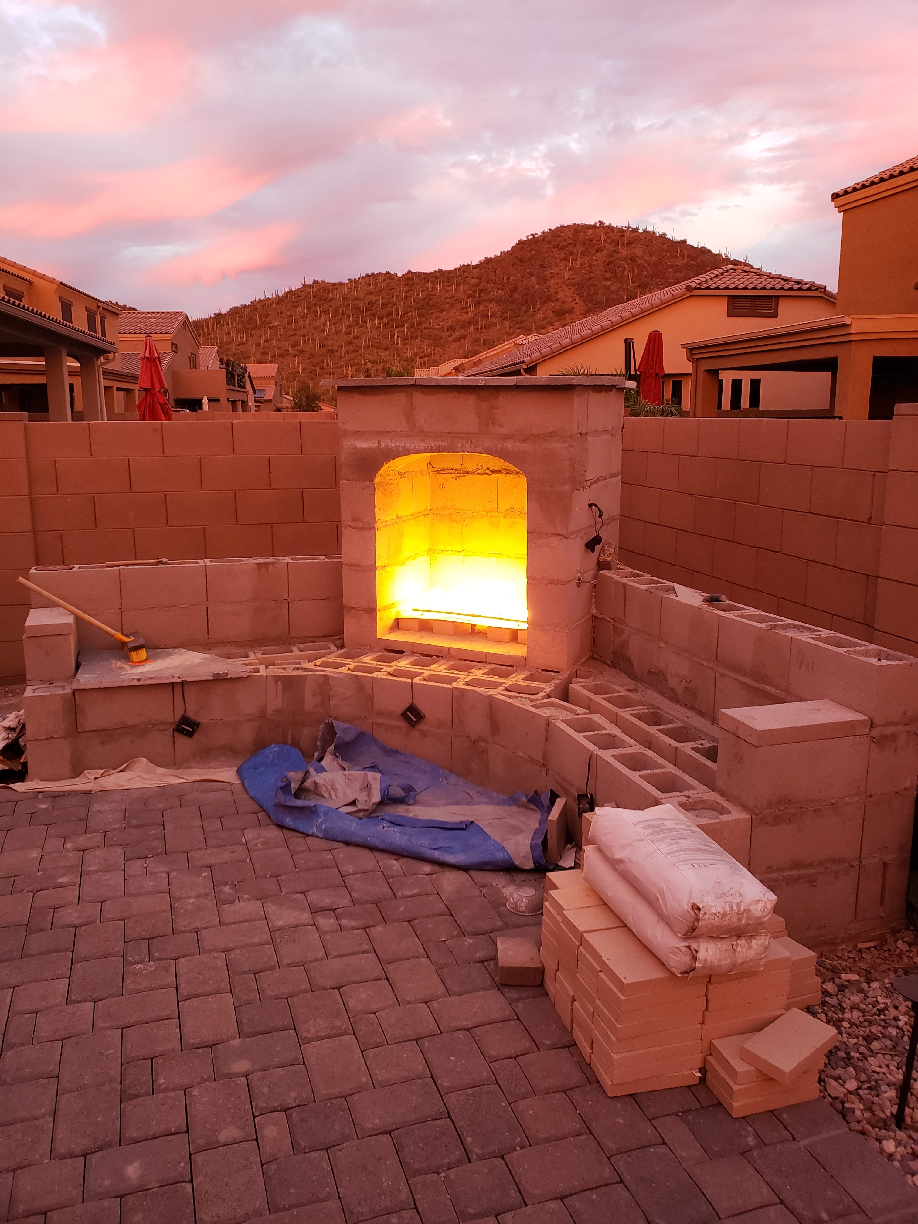 DIY Outdoor Fireplace Update - Tucson | Your DIY Outdoor ... on Diy Outdoor Fire  id=14708