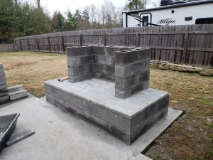 Outdoor Fireplace Construction Plan | Your DIY Outdoor ... on Building Outdoor Fireplace With Cinder Block id=32307