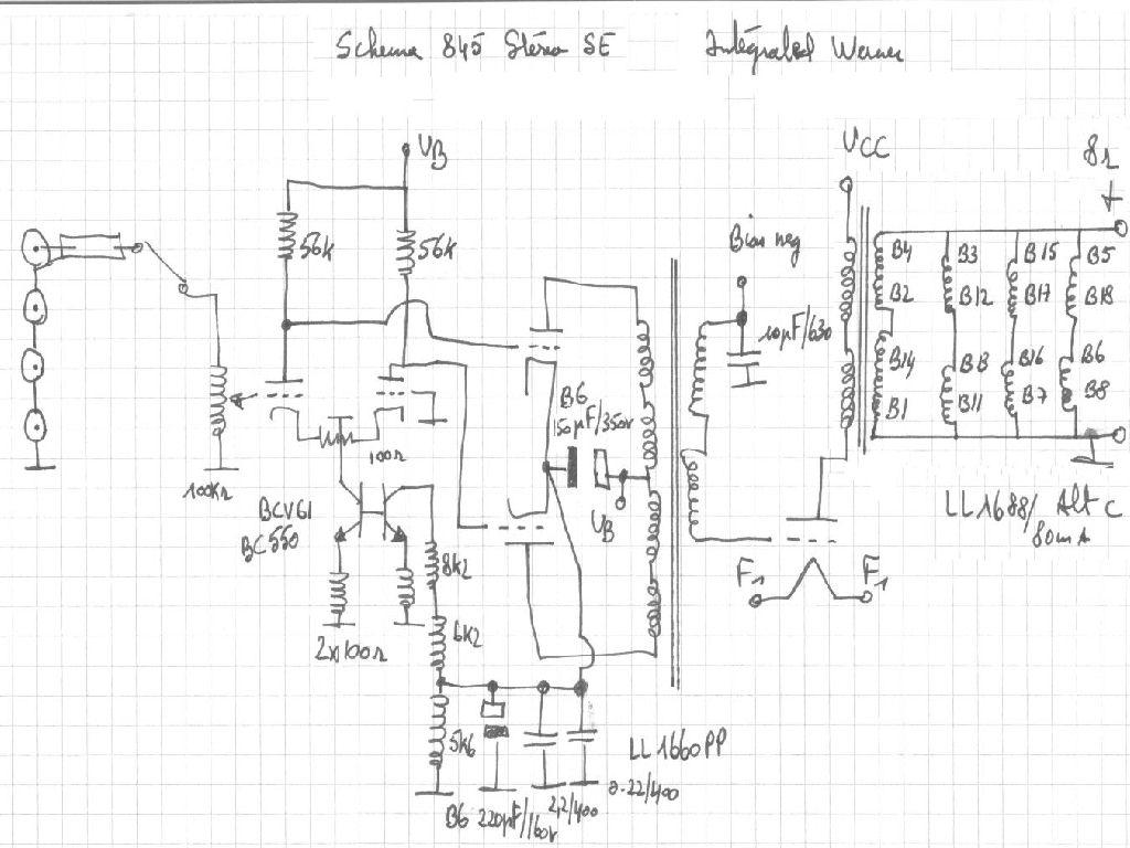 845 Pp Monoblok Eindversterker Hi End Amplifier Met Kt 66