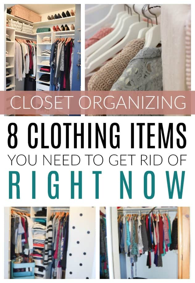organizing and purging a clothes closet