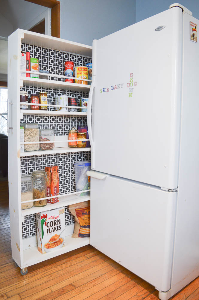 Kitchen Pantry Diy Projects: How To Build A Pull Out Pantry
