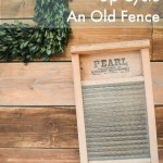 How to turn an old fence into a feature wall