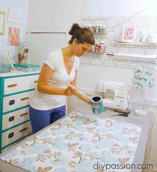 Seal the kitchen mat with Polycrylic
