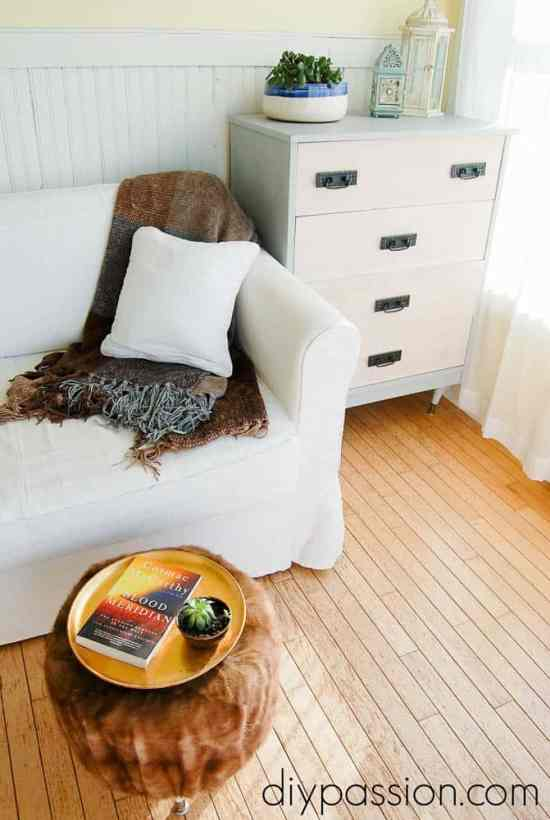 How to build your own fur ottoman