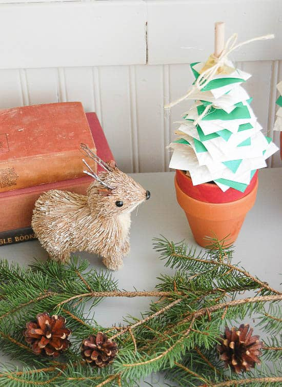 Simple Easy DIY Potted Paper Christmas Trees