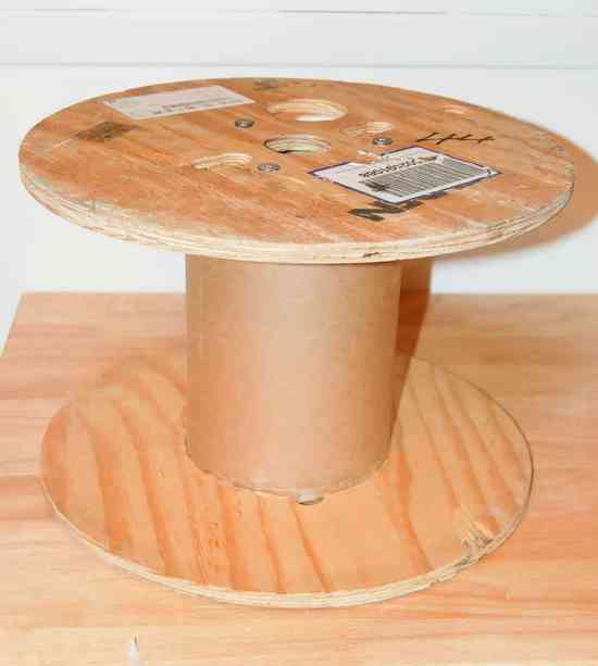 Turn a cable spool into a foot stool