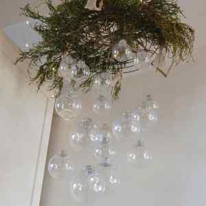 DIY Hanging Ornament Chandelier