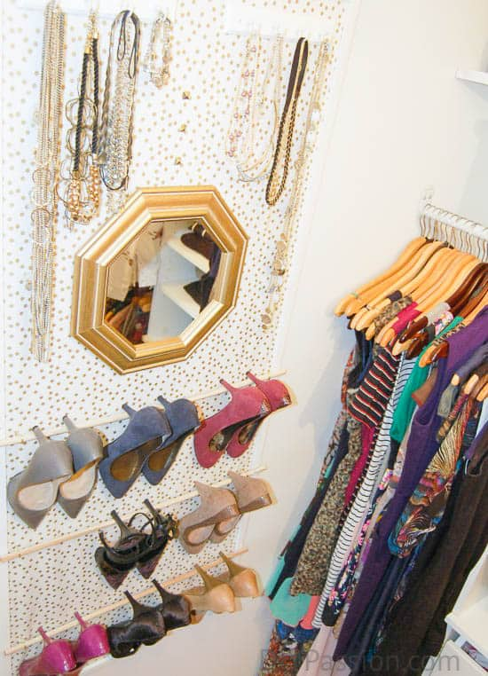 How to Hang Shoes on the Wall and Save Tons of Space
