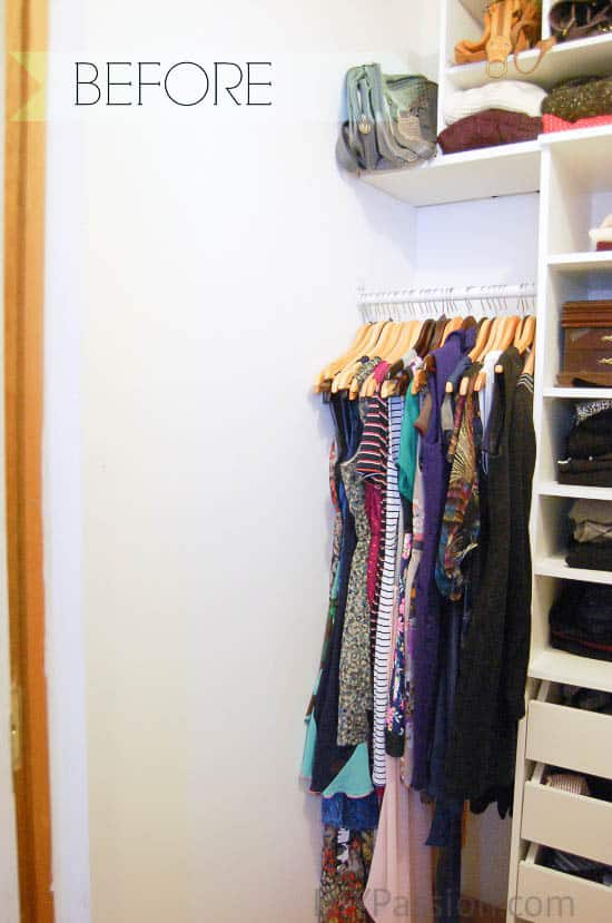 Small Closet BEFORE