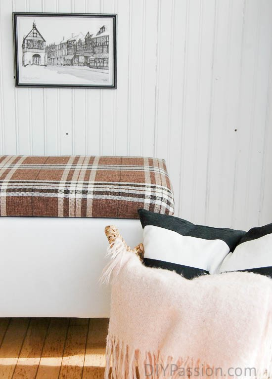 How To Turn A Boring Storage Ottoman Into A One Of A Kind